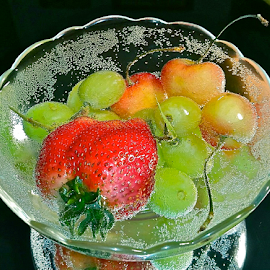 { Bowl Of Fruit from our gardens ~ 6 July }  by Jeffrey Lee - Food & Drink Fruits & Vegetables ( { bowl of fruit from our gardens ~ 6 july },  )