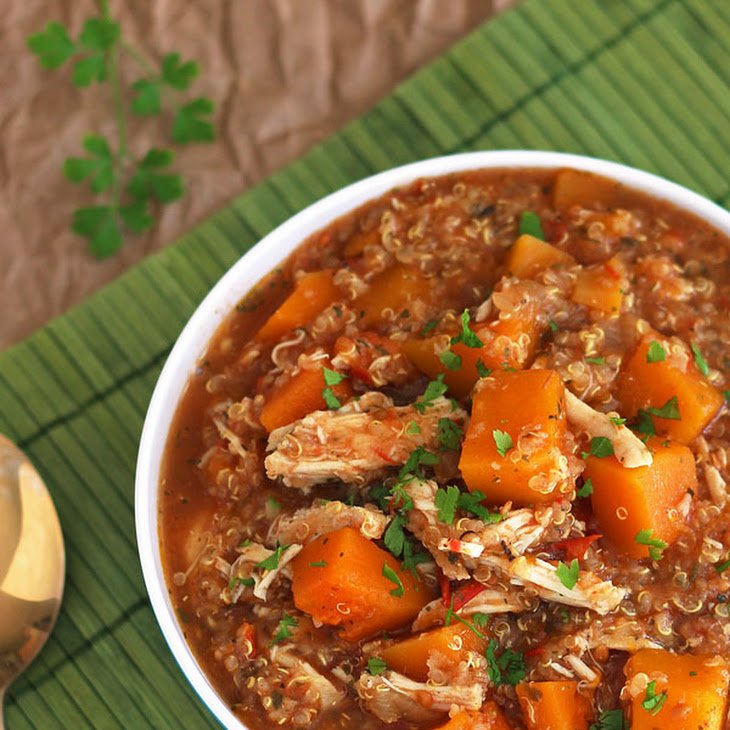 Slow Cooker Butternut Squash Chicken Quinoa Stew Recipe | Yummly