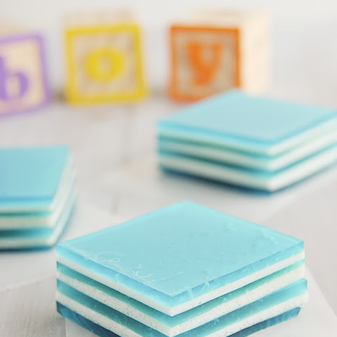 Baby Blue Layered Jello