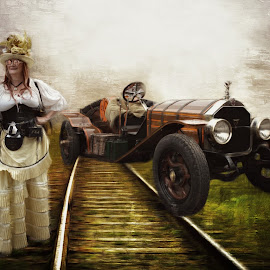 the break down by Kathleen Devai - Digital Art People ( fantasy, car, vintage, steampunk, portrait )