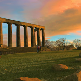 The National Monument  by Scott Pirrie - Buildings & Architecture Statues & Monuments ( calton hill, edinburgh )