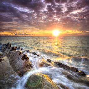 Beautiful sunset by Andrew Micheal - Landscapes Beaches ( amazing, sunset, seascape, sunrise, landscape, wonderful )