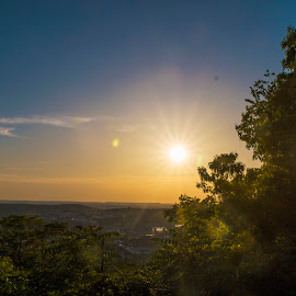 Sunset from the mountain top by Greg Reeves - Landscapes Sunsets & Sunrises ( fayetteville ar, sunsets, sunset, mt seqouyah, sunlight,  )