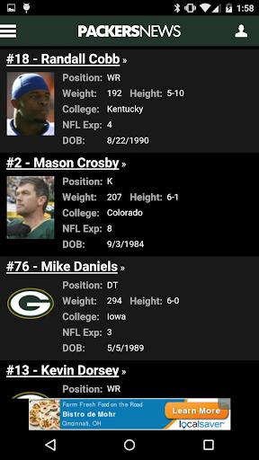 PackersNews - screenshot
