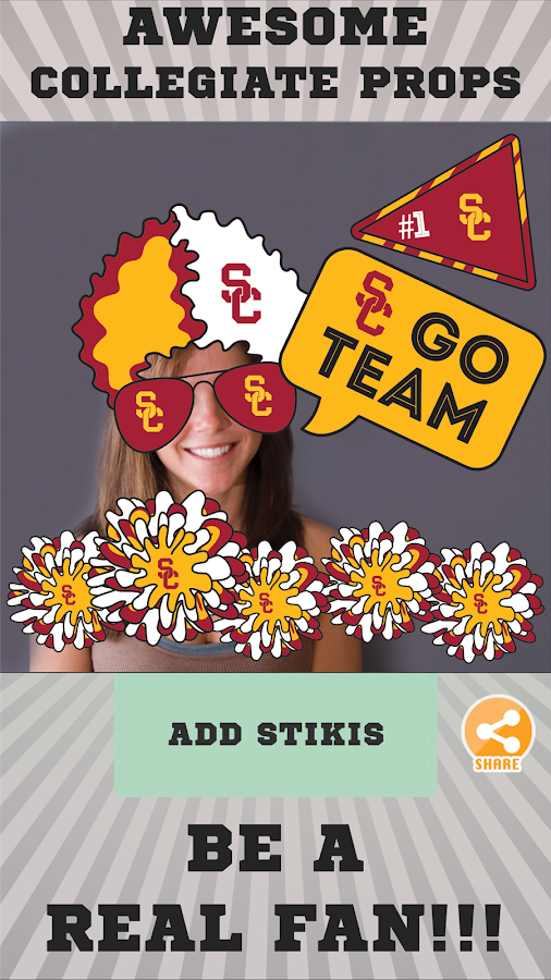 USC Trojans Selfie Aufkleber android apps download