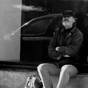 rest by Renato Dibelčar - People Street & Candids ( hs35exr, slovenia, street, fujifilm, maribor, rest, people, man )