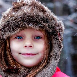 by Elizabeth Robinson - Babies & Children Children Candids ( child, fur hat, snow )