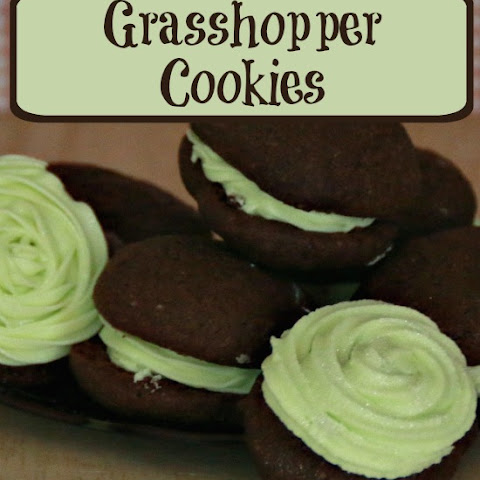 Mint & Chocolate Grasshopper Cookies