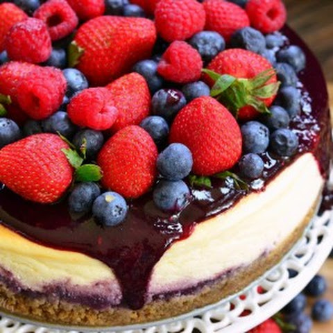 Mixed Berry Cheesecake aka Red, White, and Blue Cheesecake