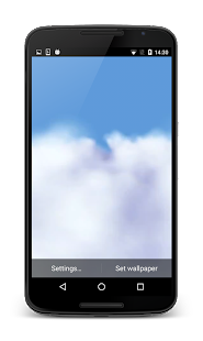 Flying Through Clouds HD LWP - screenshot