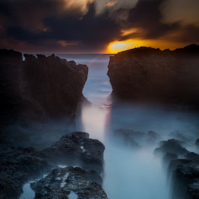 The time path by Haim Rosenfeld - Landscapes Sunsets & Sunrises ( dor, dreamy, old, mystery, stone, rock, beach, travel, long, drama, contemplate, shot, middle, unreal, time, frozen time, ancient, sky, nature, spiritual, movement, place, surreal, light, black, foreground, climate, orange, wind, dream, windy, colors, texture, soul, mood, atmosphere, horizon, shape, dusk, scene, moody, lines, view, natural, exposure, dynamic, shore, colorful, waterscape, land, beauty, landscape, israel, frozen, coast, sun, mediterranean, dreamlike, tide, dramatic, path, long exposure, ruins, rock formation, east, wet, nikon, evening, rocks, lonely, water, clouds, seashore, purple, waves, beautiful, sea, seascape, scenic, great, blue, sunset, outdoor, brown, scenery, sunrise, milky, stunning )