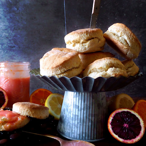 Savannah Buttermilk Biscuits & Blood Orange-citrus Curd