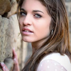 Lelani by Shane Vermaak - People Portraits of Women ( portraiture, canon, farm, model, piercing, teenager, blue eyes, ruins, stunning )