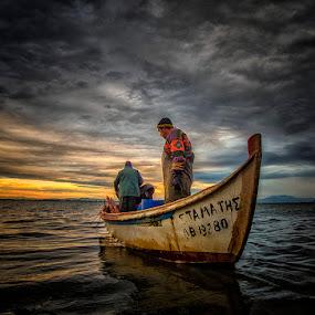 Fisherman by Gregory Dallis - Transportation Boats