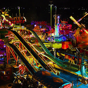 Amused by Mike Mills - City,  Street & Park  Amusement Parks ( lights, easter, park, rolercoaster, carnival, amusement, show, fun, slide, fair )