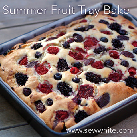 Summer Fruit Cake Tray Bake
