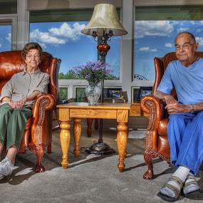 Home is Where the Heart Is by AJ Schroetlin - People Couples ( clouds, sky, color, family, woman, aj schroetlin, grandparents, man )