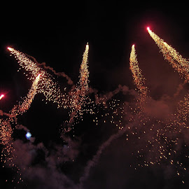 Fireworks by Ajit Kumar Majhi - Abstract Fire & Fireworks