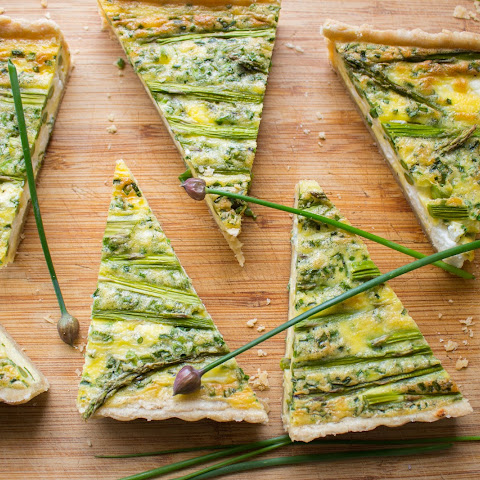 Asparagus + Goat Cheese Quiche
