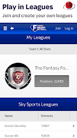 Screenshot of Sky Sports Fantasy Football