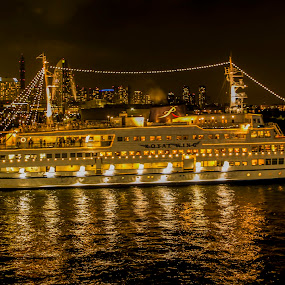 Cruise in the night by Naufal Boy - Transportation Boats ( d.s photograph )