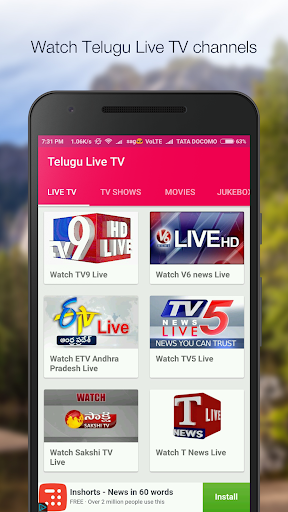 Telugu Live TV,Movies & Shows Apk Download Free for PC, smart TV