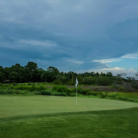 Skidaway Island Golf by Tim Waters - Sports & Fitness Golf ( savannah, georgia, marsh, golf, storm )