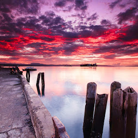 sta. ana wharf by Rodrigo Layug - Landscapes Waterscapes ( waterscape, sunrise, landscape )