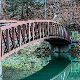 Bridge by Kelsey Blakely - Buildings & Architecture Bridges & Suspended Structures ( west virginia, lake, bridge, berwind )