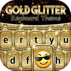 Download Gold Glitter Keyboard Theme For PC Windows and Mac