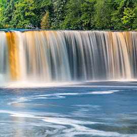 Tahquamenon Upper Falls by Andrew Christmann - Landscapes Waterscapes ( tahquamenon falls, michigan, waterscape, waterfall, water )