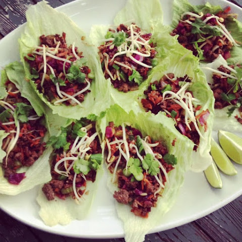 Asian Beef & Vegetable Lettuce Cups