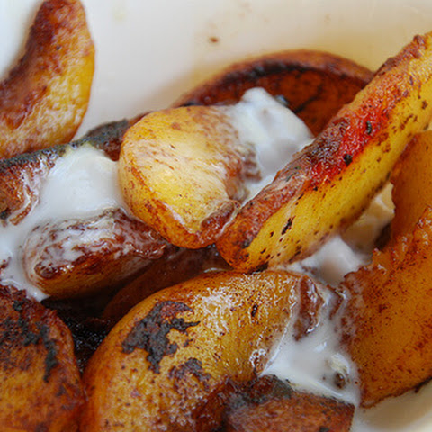 Caramelized Peaches & Cream (no sweeteners or dairy!!)