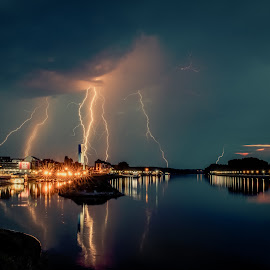 thunder by Zoran Osijek - Landscapes Weather ( osijek, croatia )
