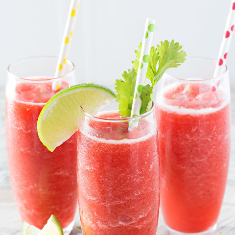 Boozy Strawberry Limeade Slushies