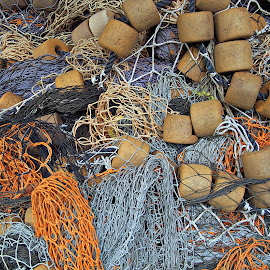 Fisherman's Nightmare by Dale Fillmore - Artistic Objects Other Objects ( color, texture, artistic objects, fishing tools, design )