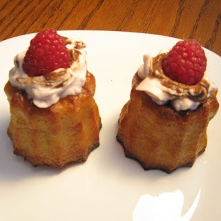 Canelés with Raspberry-Balsamic White Chocolate Whipped Cream