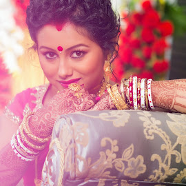 Smiling eyes by Rathin Halder - Wedding Bride