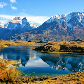 Reflections IV! by Itamar Campos - Landscapes Travel ( torres del paine, chile, national park, mountains, lake )