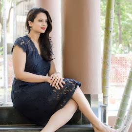 The Elegant Beauty by Vijayanand Kandasamy - People Fashion ( woman, beauty, style, girl, women, fashion )