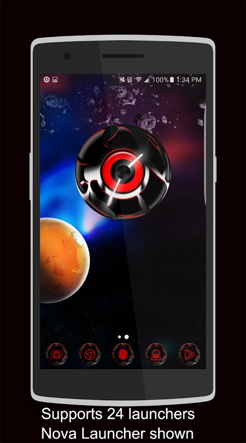 Twister Red Iconpack &for NEXT Screenshot 2