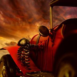 Antique car by Fatima Vazquez - Transportation Automobiles