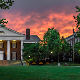 UVA Darden School of Business by Todd Crenshaw - Buildings & Architecture Office Buildings & Hotels ( clouds, charlottesville, sunset, uva, virginia )