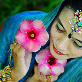 The Girl With Flower by Fikri Arief Utama - People Fashion
