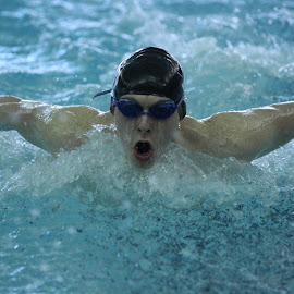 Take a Breath by Nathan Mannis - Sports & Fitness Swimming ( high school, swimming )