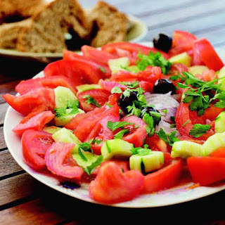 Tomato, Cucumber, and Red Onion Salad
