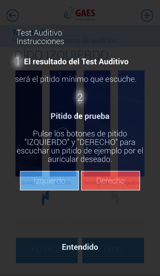 GAES - Test Auditivo Screenshot 3
