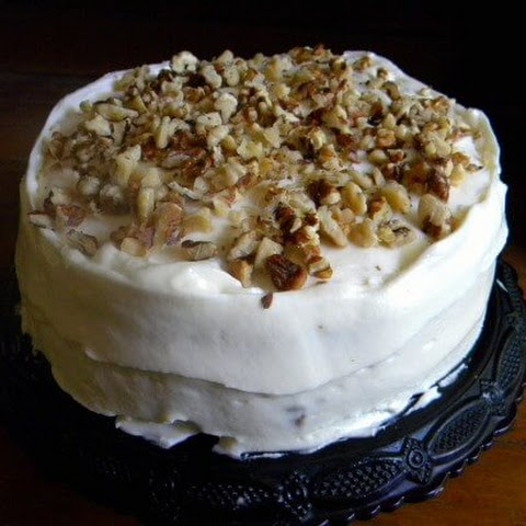 Banana Wanut Cake with Cream Cheese Frosting