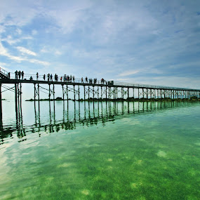 The Jetty Reflection by Alit  Apriyana - Buildings & Architecture Bridges & Suspended Structures