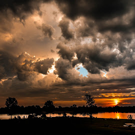 Savage Sunrise  by Mike Hotovy - Landscapes Weather